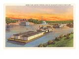 Barge Fleet  Mississippi River  Minnesota