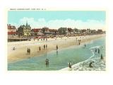 Beach Scene  Cape May  New Jersey