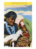 Navajo Mother  Baby and Lamb