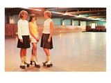 Girls at the Roller Rink