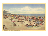 Beach Scene  Ocean Grove  New Jersey