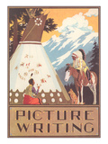 Picture Writing  Indian Drawing Pictographs on Tepee