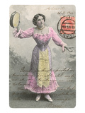Wasp-Waisted Lady with Tambourine