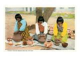 Pueblo Indian Women Making Pottery
