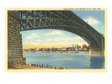 Eads Bridge and Old Skyline of St Louis  Missouri