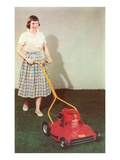 Fifties Girl with Lawnmower