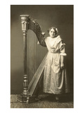Bored Girl Standing by Harp