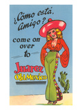 Buxom Cartoon Senorita  Juarez  Mexico