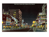 Night  High Street  Jefferson City  Missouri