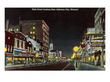 Night  High Street  Jefferson City  Missouri