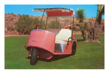 Salmon Golf Cart  Retro