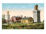 Twin Lighthouses  Highlands  New Jersey