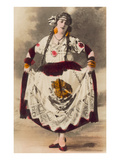 Dancer with Mexican Flag Dress