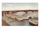 Eads Bridge  Riverboat  St Louis  Missouri