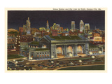 Night  Union Station  Kansas City  Missouri