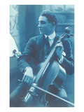 Effete Man Playing Cello