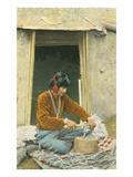 Navajo Silversmith at Hogan