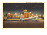 Night  Municipal Airport  Kansas City  Missouri