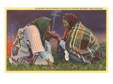 Blackfeet Indian Women  Glacier Park  Montana
