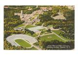 Aerial View of Duke University  Durham  North Carolina