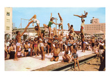 Venice Beach Acrobatics  Retro