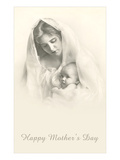 Happy Mothers Day  Mother and Child in Veil