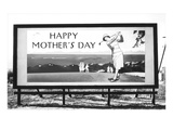 Billboard  Happy Mothers Day  Lady Golfer
