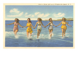 Bathing Beauties  Wrightsville Beach  North Carolina
