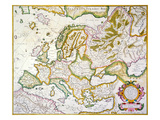 Map Of Europe  1623