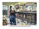 Carry Nation Cartoon  1901
