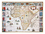 Map Of Africa  1630