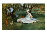 Monet Family In Garden