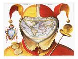 Fool's Cap World Map  C1590