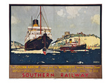 Steamship Travel Poster
