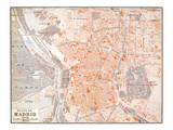 Spain: Madrid Map  C1920