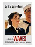 WWII: Waves Poster