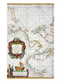 East Indies Map  1670