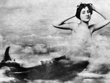 Nude As Mermaid  1890S