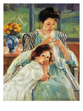 Cassatt: Mother Sewing