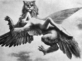 Nude And Griffin  1890S