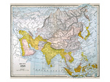Asia Map Late 19Th Century