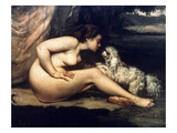Courbet: Nude W/Dog  1861