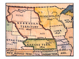 Kansas-Nebraska Map  1854