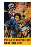 WWII Poster: &quot;Help China&quot;