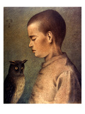 Degouve: Child & Owl  1892