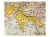 Asia Map  19Th Century