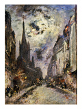 Jongkind: St Severin  1877 The Street And Church Of St Severin  1877