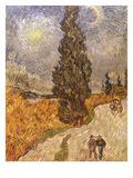 Van Gogh: Cypresses  1889