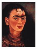 Diego and I c1949 art print by Frida Kahlo