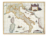 Map Of Italy  1631